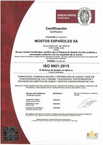 CERTIFICADO ISO 9001-2018 HASTA 25-04-2022