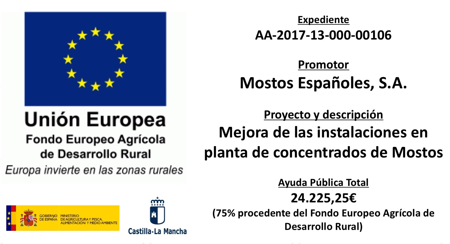 FOCAL MOSTOS ESPAÑOLES, 2014-2020